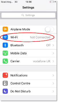 eduroam - iOS - Wi-Fi settings