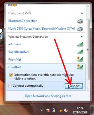 GuestNet - Windows 7 - connect